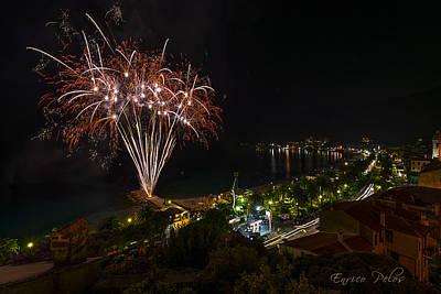 Photograph - Fireworks - Fuochi Artificiali by Enrico Pelos