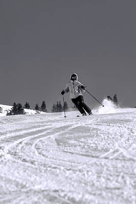 Skiing Photograph - First Run by Sebastian Musial