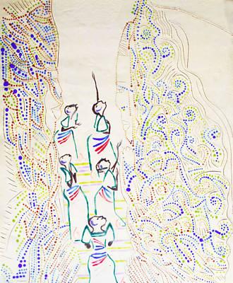 Beloved Saviour Ceramic Art - Five Wise Virgins by Gloria Ssali