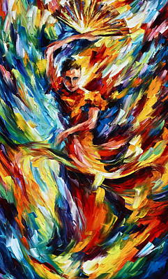 Latin American Painting - Flamenco by Leonid Afremov