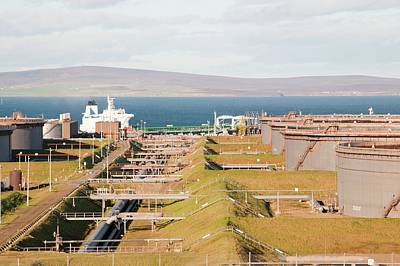 Bund Photograph - Flotta Oil Terminal by Ashley Cooper