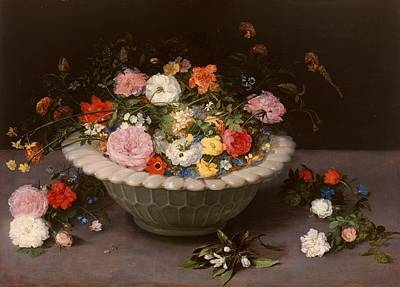 Baroque Painting - Flower Vase by Jan Brueghel the Elder