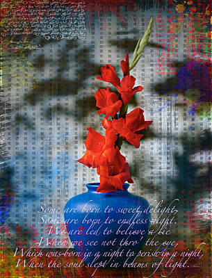Flowers Of Words Original by Massimo Sormonta