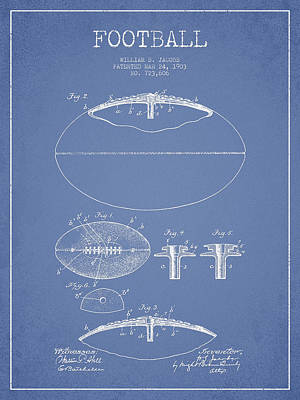Football Royalty-Free and Rights-Managed Images - Football Patent Drawing from 1903 by Aged Pixel