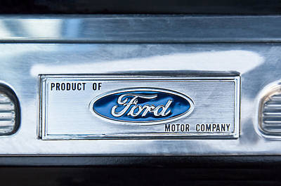Powered By Ford Emblem -0307c Print by Jill Reger