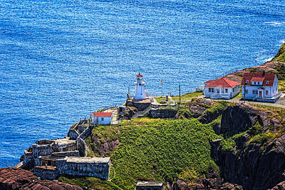 Photograph - Fort Amherst Lighthouse On The South Side Of St Johns Harbour by Perla Copernik