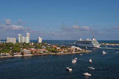 Pleasure Photograph - Fort Lauderdale, Port Everglades by Jim Engelbrecht