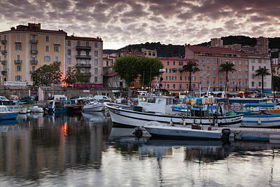 Sud Photograph - France, Corsica, Ajaccio, City View by Walter Bibikow