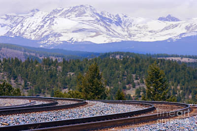 Photograph - Freight On The Divide by Steve Krull