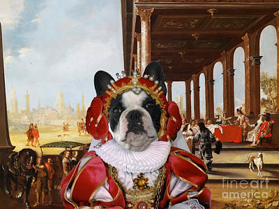 Dog Poster Painting - French Bulldog Art Canvas Print by Sandra Sij