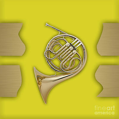 French Horn Collection Art Print by Marvin Blaine