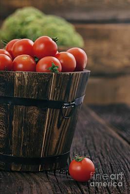 Fresh Organic Vegetables Art Print by Mythja  Photography