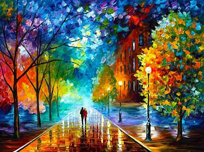 Unique Oil Painting - Freshness Of Cold by Leonid Afremov