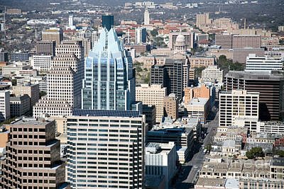 Frost Bank Building Photograph - Frost Bank Tower Austin Texas by Bill Cobb