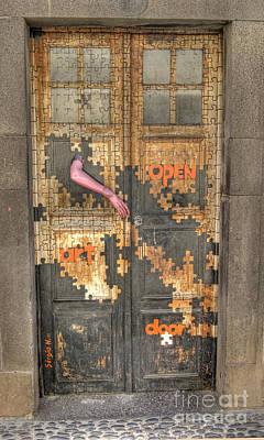 Photograph - Funchal Door Art Puzzle by David Birchall
