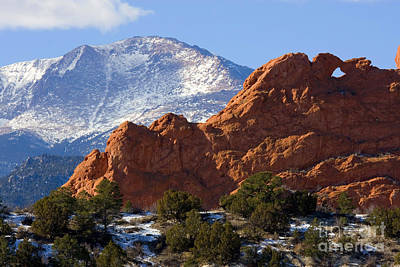 Steve Krull Royalty-Free and Rights-Managed Images - Garden of the Gods by Steve Krull