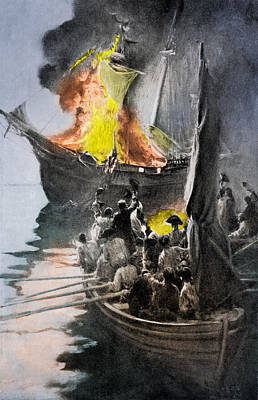 Gaspee Affair, 1772 Art Print