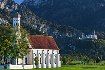 Bayern Photograph - Germany, Bavaria, Hohenschwangau by Walter Bibikow