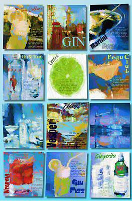 Digital Art - Gin by Laura Toth