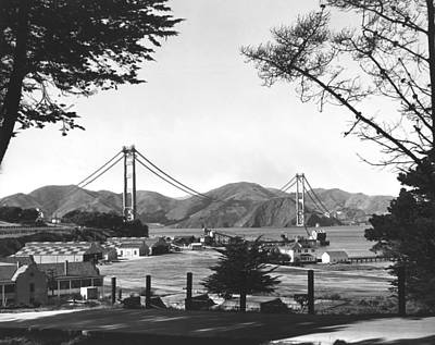 Photograph - Golden Gate Bridge Work by Underwood Archives