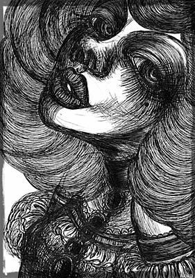 Gothic Lady Art Print