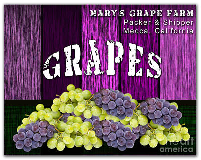Grape Mixed Media - Grape Farm by Marvin Blaine