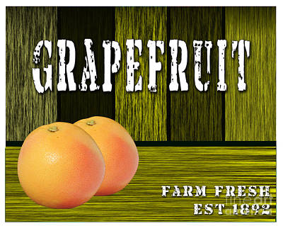Grapefruit Art Print by Marvin Blaine