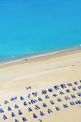 Lounge Chair Photograph - Greece, Ionian Island, Cephalonia by Tuul & Bruno Morandi
