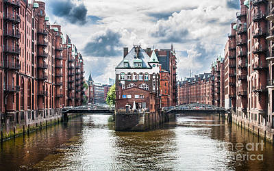 Hamburg Photograph - Hamburg Speicherstadt by JR Photography