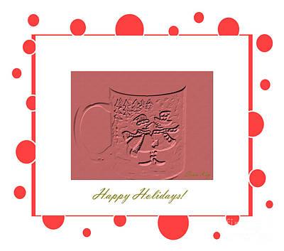 Digital Art - Happy Holidays Card by Oksana Semenchenko