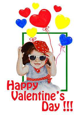Happy Valentines Day Print by Irina Sztukowski