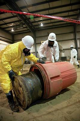 Cleanup Photograph - Hazardous Materials Cleanup Training by Jim West
