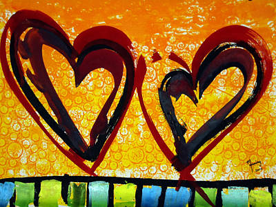 Painting - Heart Of Life by Richard Sean Manning