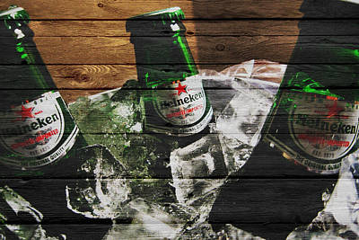 Handcrafted Photograph - Heineken by Joe Hamilton
