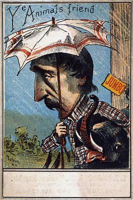 Rain Drawing - Henry Bergh (1811-1888) by Granger
