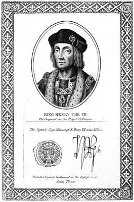 Autographed Painting - Henry Vii (1457-1509) by Granger