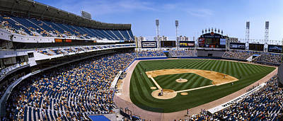 Comiskey Photograph - High Angle View Of A Baseball Stadium by Panoramic Images