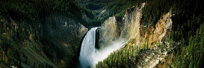 High Angle View Of A Waterfall Art Print by Panoramic Images