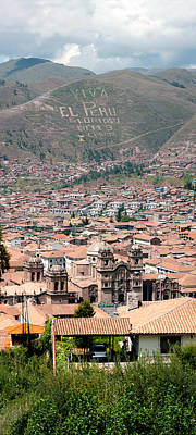 Cusco Photograph - High Angle View Of The City by Panoramic Images