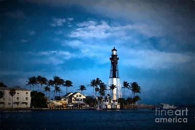 Photograph - Hillsboro Inlet Lighthouse by Les Palenik