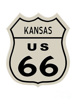 Fun Patterns - Historical Route 66 sign by Indian Summer