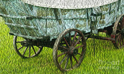 Conestoga Wagon Photograph - 4 Horse Power by Paul W Faust -  Impressions of Light