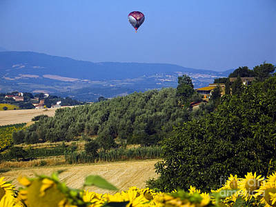 Hot Air Balloon, Italy Art Print by Tim Holt