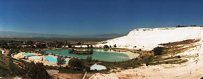 Natural Pool Photograph - Hot Springs And Travertine Pool by Panoramic Images