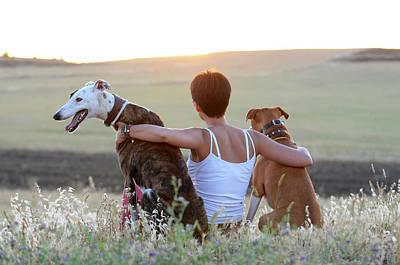 Greyhound Photograph - Hounding Misery, The Misfortune by Nano Calvo