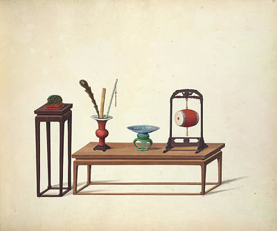 Illustration Technique Photograph - Household Accessories by British Library