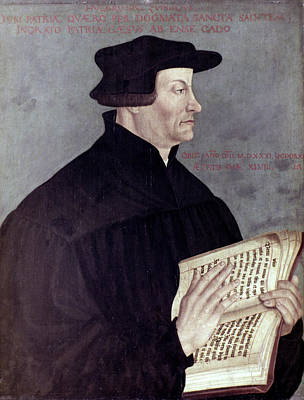 Reformer Painting - Huldreich Zwingli (1484-1531) by Granger