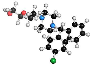 Chemical Photograph - Hydroxyzine Antihistamine Drug Molecule by Molekuul