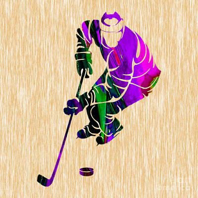 Mixed Media - Ice Hockey by Marvin Blaine