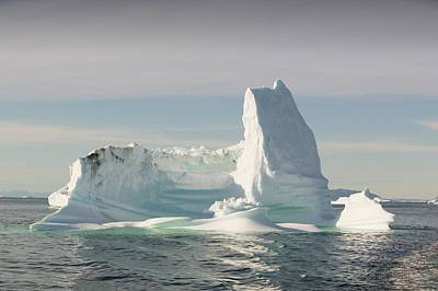 Albedo Photograph - Icebergs From The Jakobshavn Glacier by Ashley Cooper